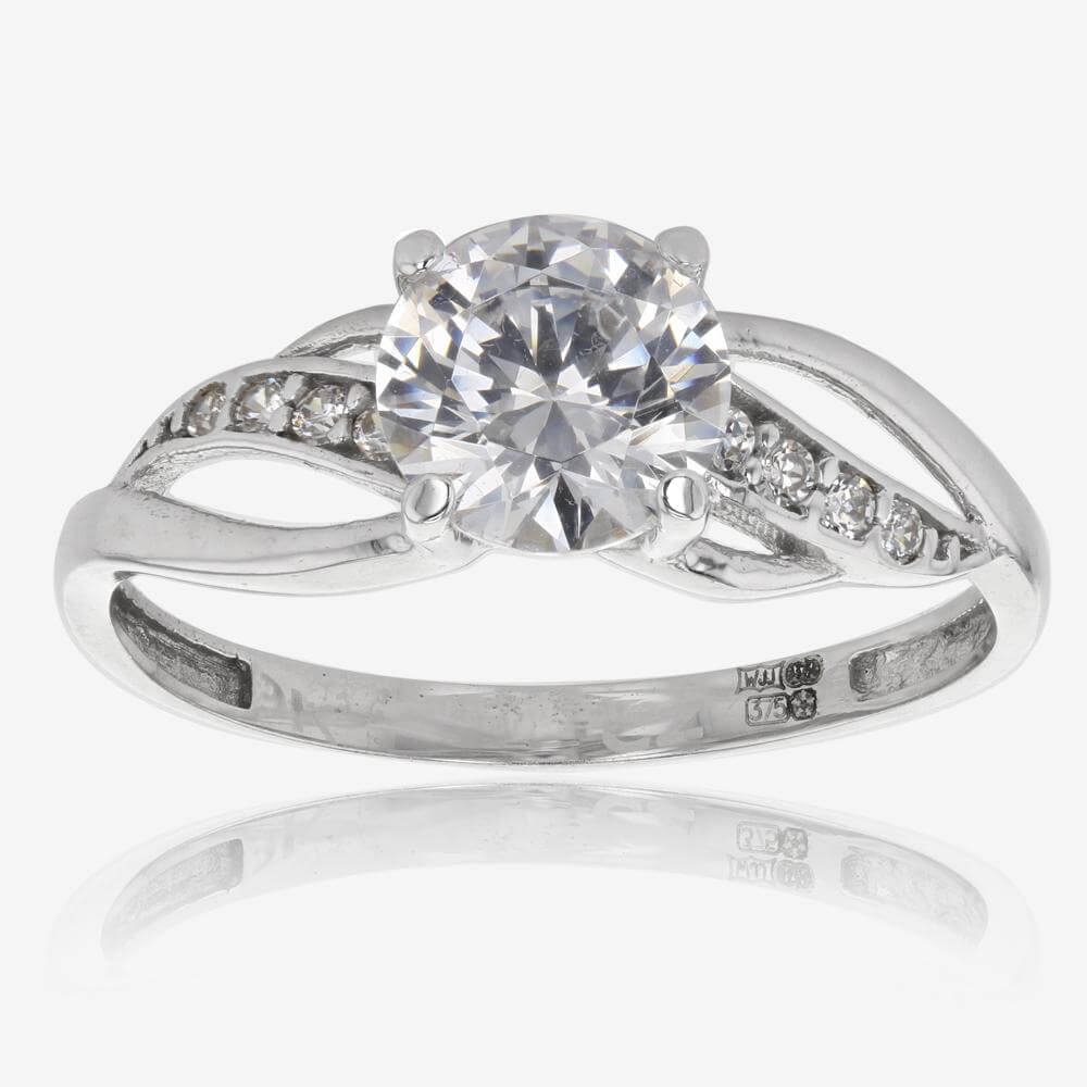 Petula 9ct White Gold DiamonFlash<sup>®</sup> Cubic Zirconia Ring