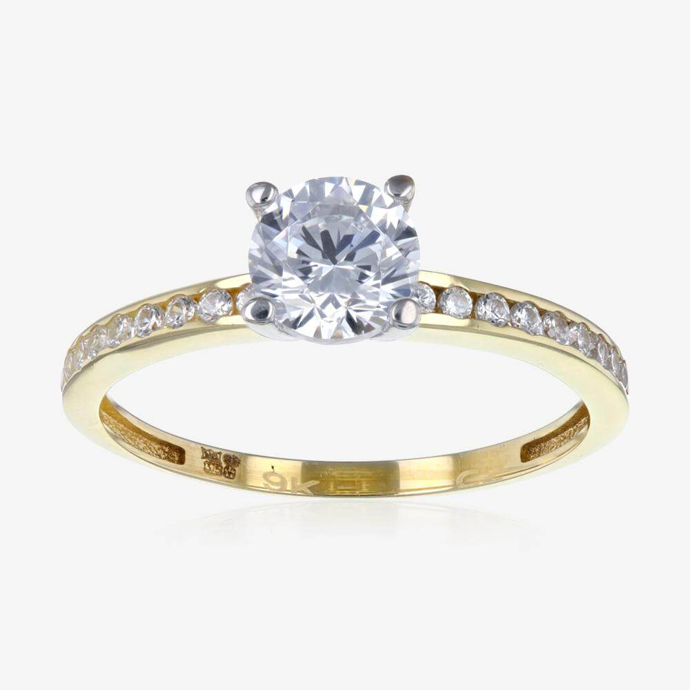 Sup> Cubic Zirconia Solitaire Ring