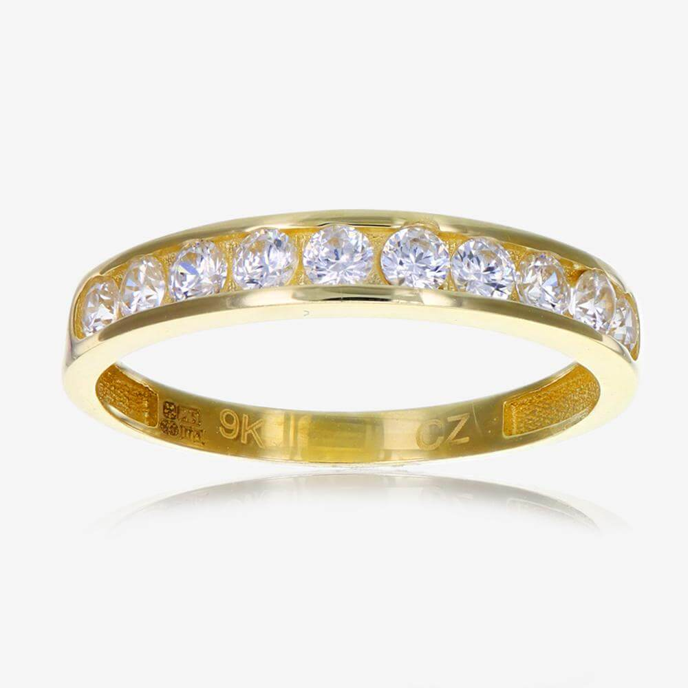 Ct Gold Cubic Zirconia Eternity Ring