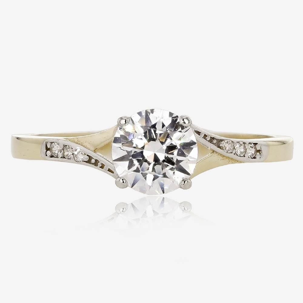 9ct Gold DiamonFlash® Cubic Zirconia Solitaire Ring