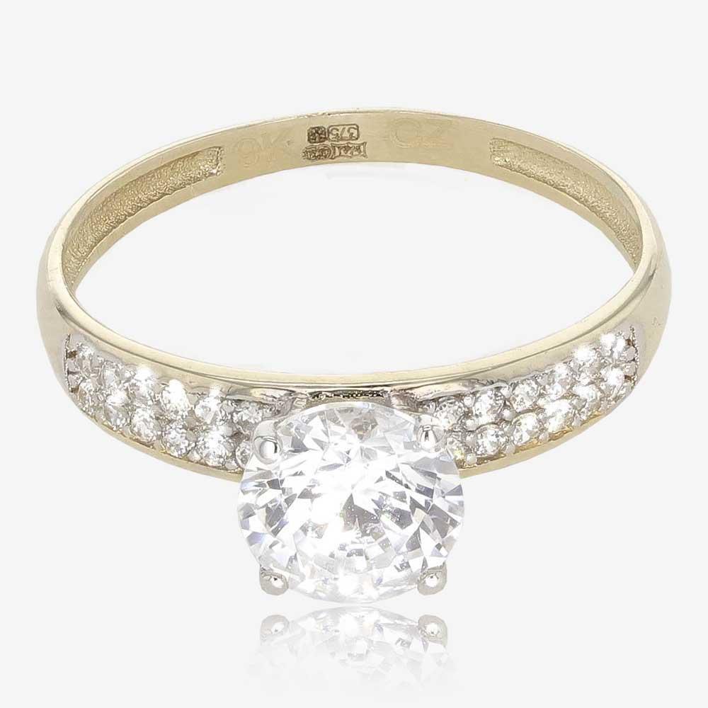 Serena 9ct Gold DiamonFlash<sup>&reg;</sup> Solitaire Ring