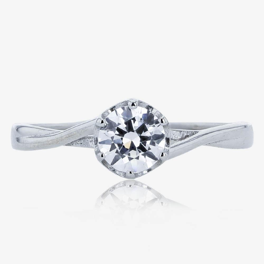9ct White Gold DiamonFlash® Solitaire Ring