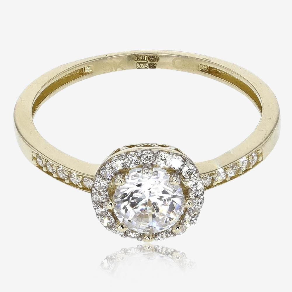 9ct Gold DiamonFlash<sup>&reg;</sup> Cubic Zirconia Cluster Ring