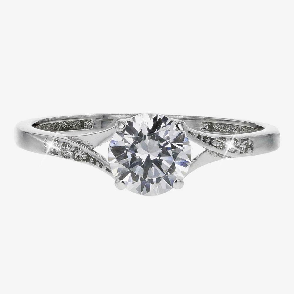 9ct White Gold DiamonFlash® Cubic Zirconia Solitaire Ring