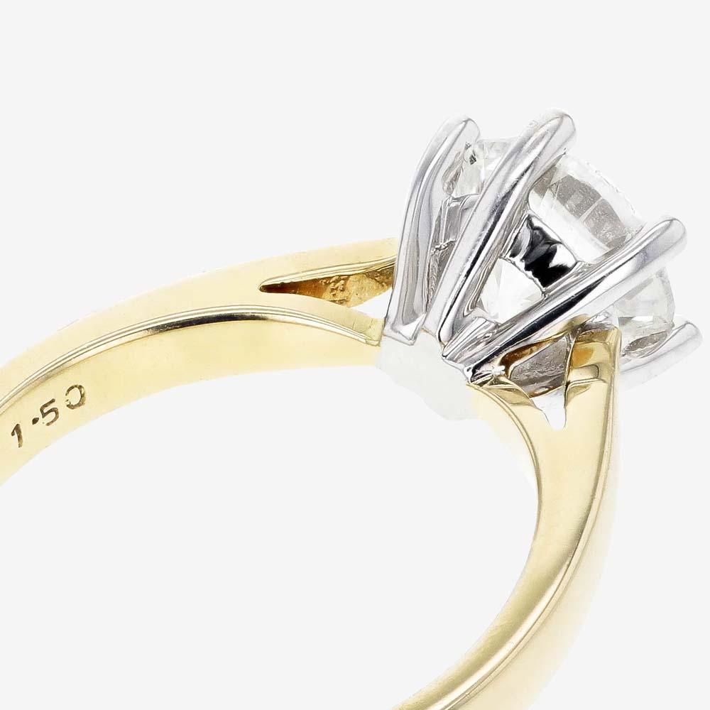 18ct Gold Diamond Solitaire Ring 1.50ct