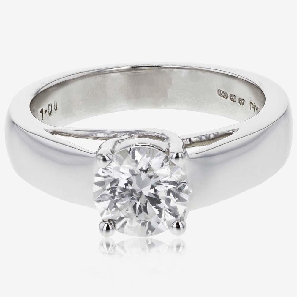 18ct White Gold Diamond Solitaire Ring 1.00ct