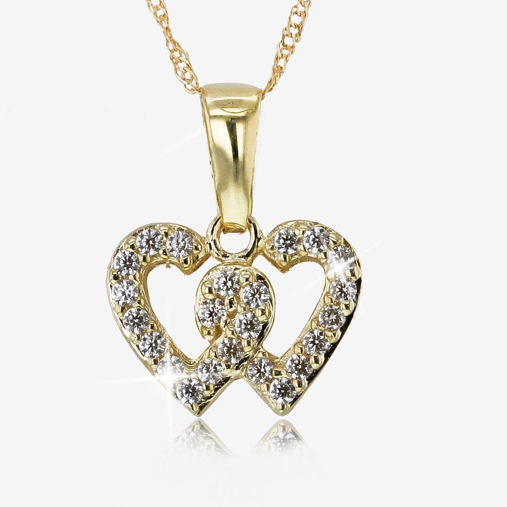 9ct Gold Entwined Heart Necklace
