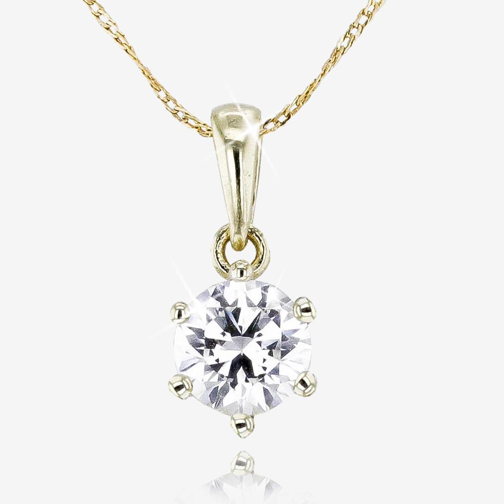 9ct Gold CZ Necklace