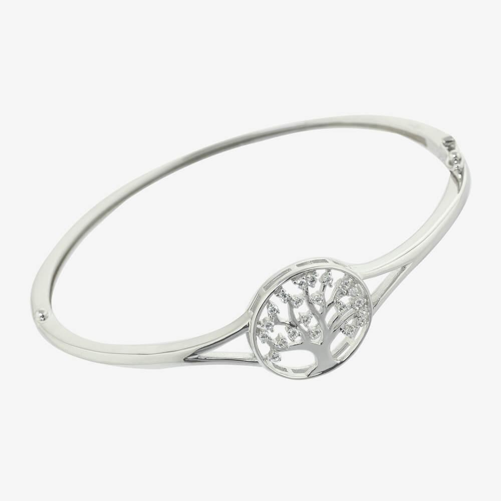 Sterling Silver Life's Tree Bangle