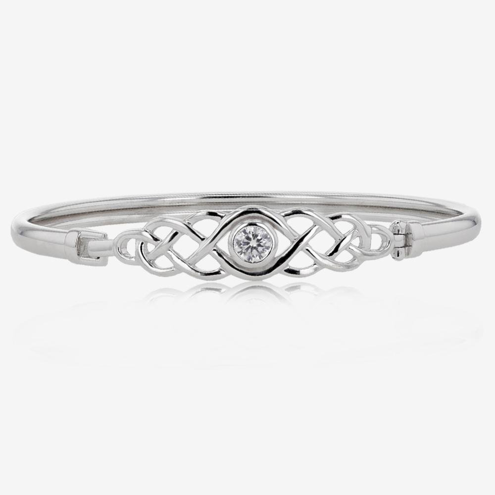 Sterling Silver Celtic Design Bangle