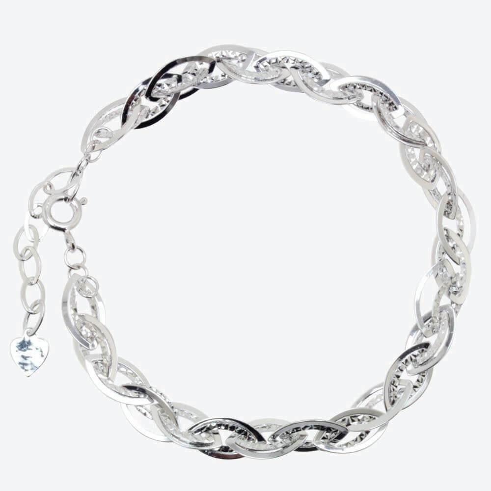 Sandrine Sterling Silver Diamond Cut Fancy Bracelet