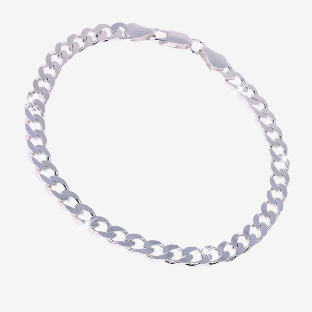 Sterling Silver Men's Curb Link Bracelet