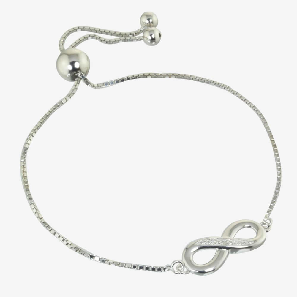 diamond infinity sterling silver friendship bracelet