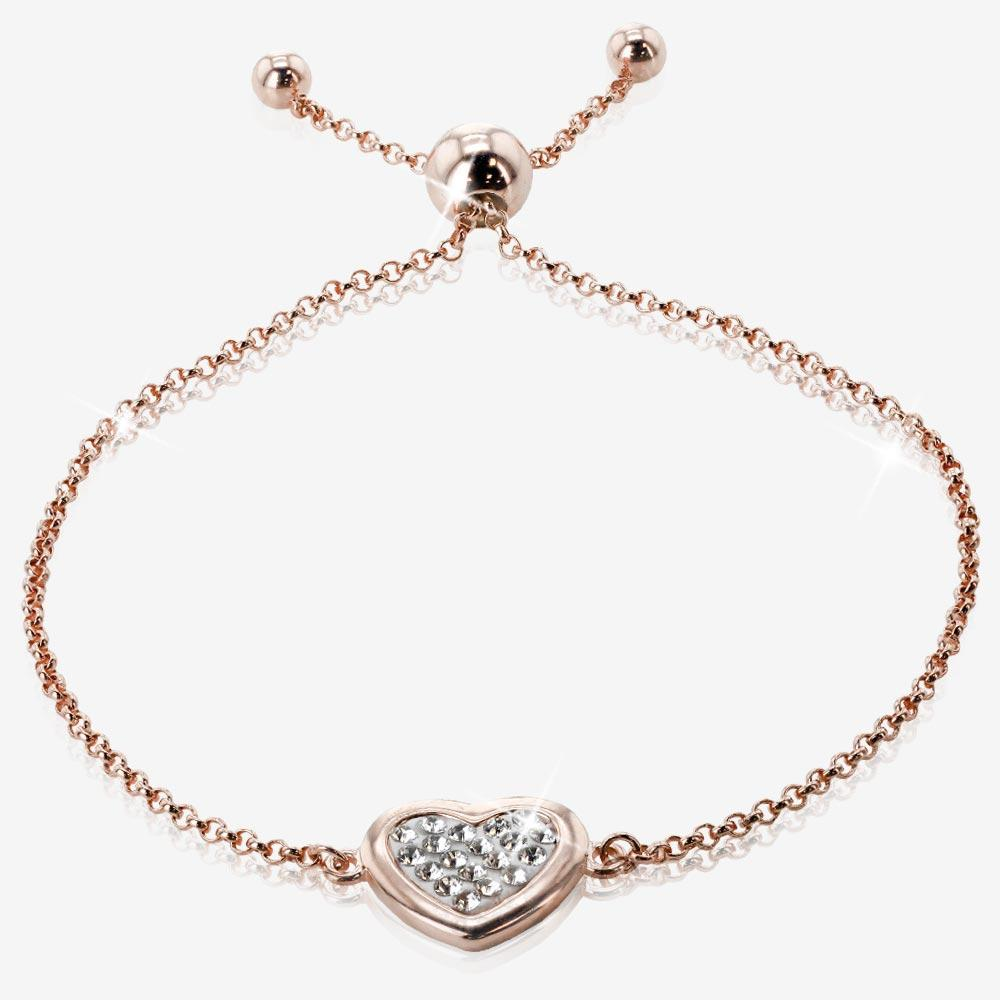 The Tania Sterling Silver Rose Heart Collection Made With Swarovski® Crystals