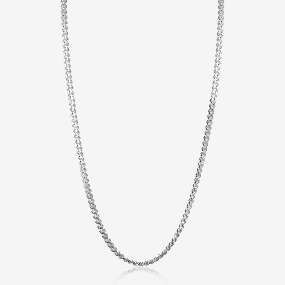 "Sterling Silver 20"" Curb Chain"