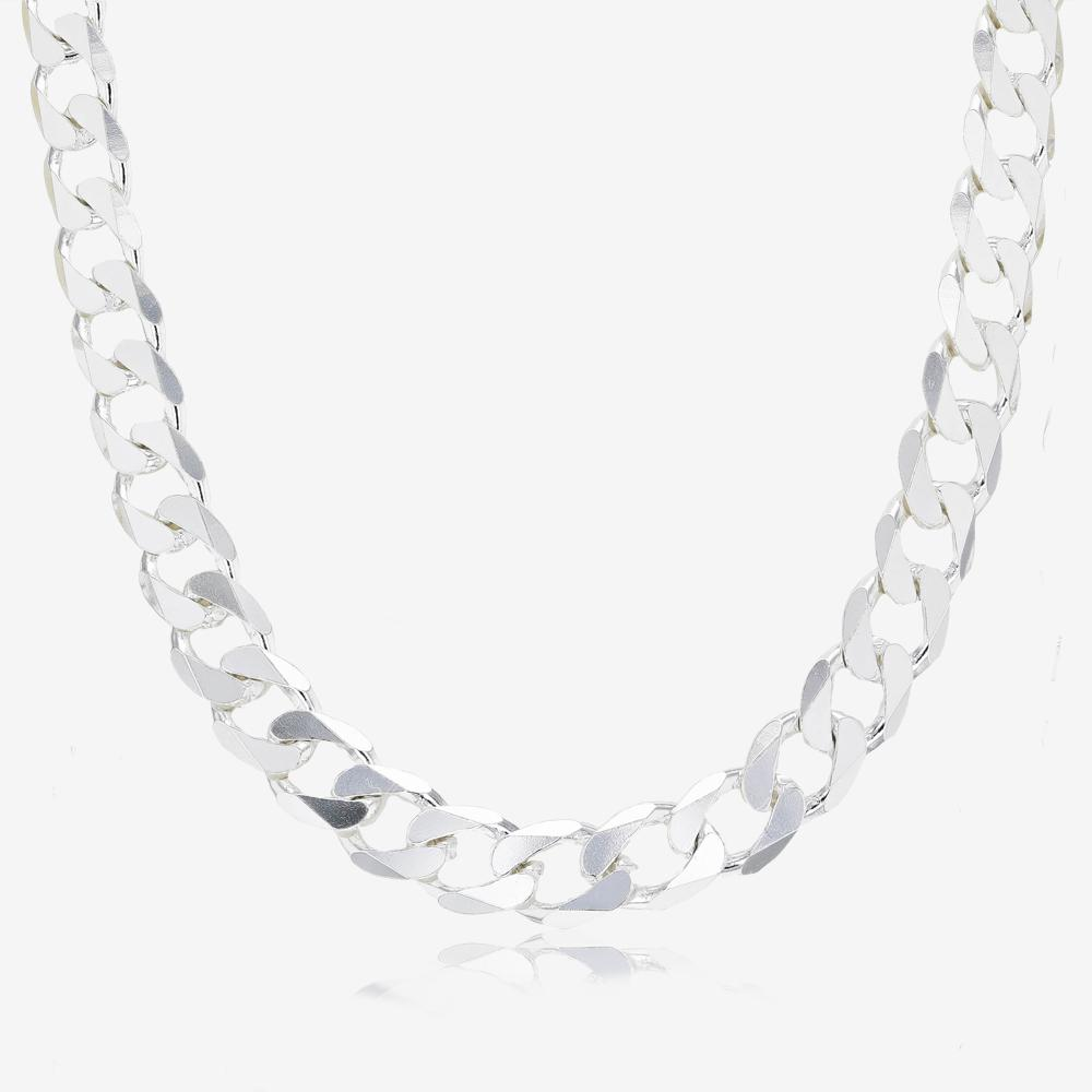 "Men's Sterling Silver 20"" Curb Chain"