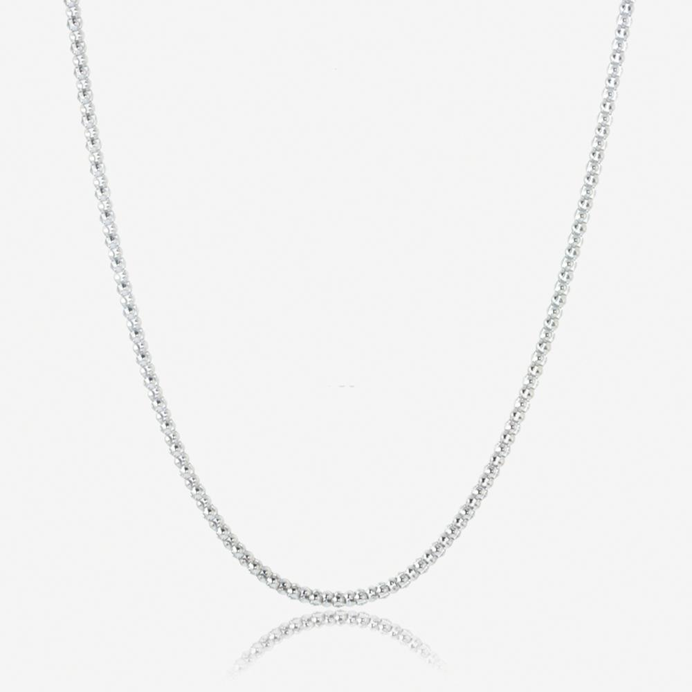 "Ladies Sterling Silver 18"" Popcorn Chain"