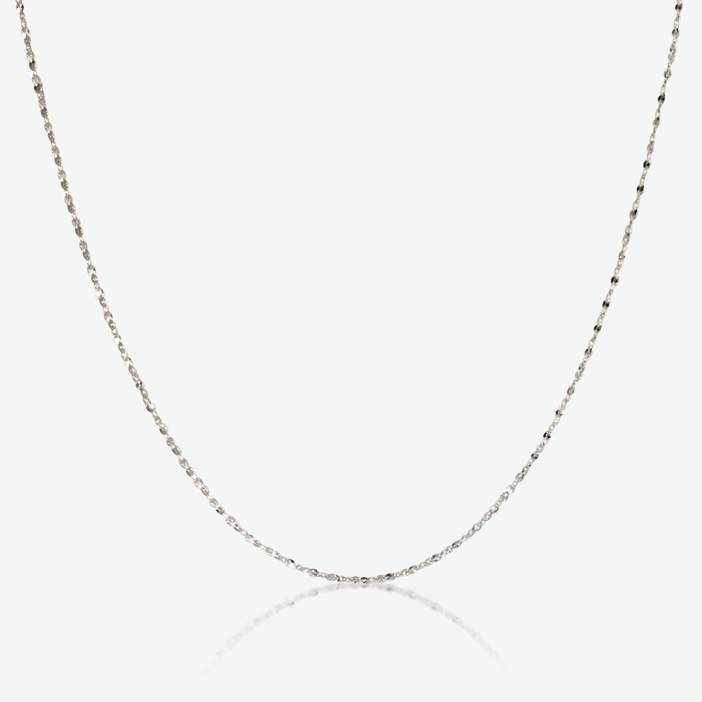 "Silver 20"" Singapore Style Chain"