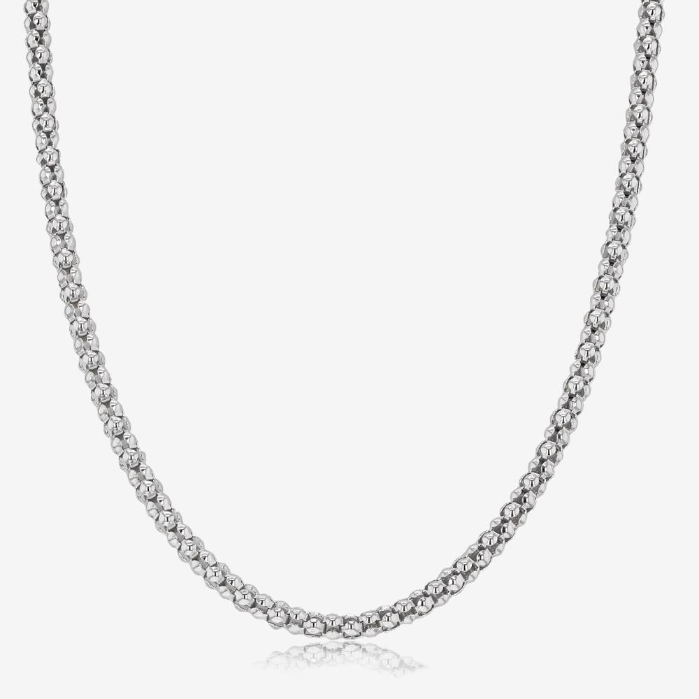 "Ladies Sterling Silver 24"" Popcorn Chain"
