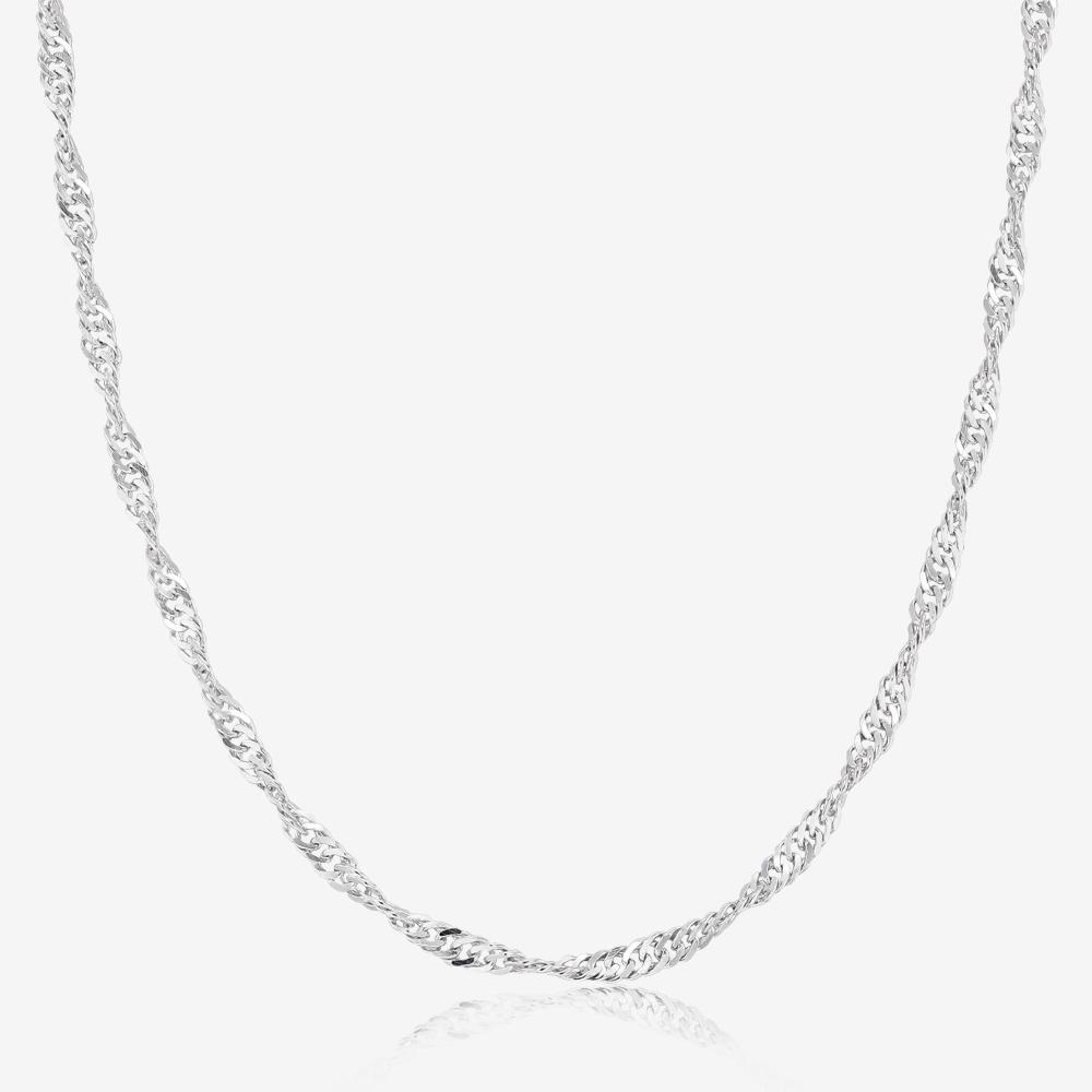 Sterling Silver 16 inch Singapore Style Chain for Her