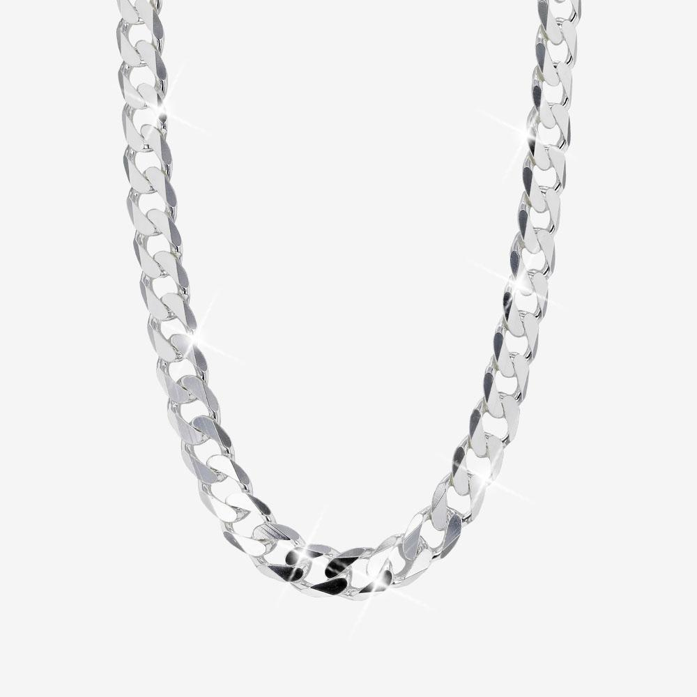 "Men's Sterling Silver 24"" Curb Chain"