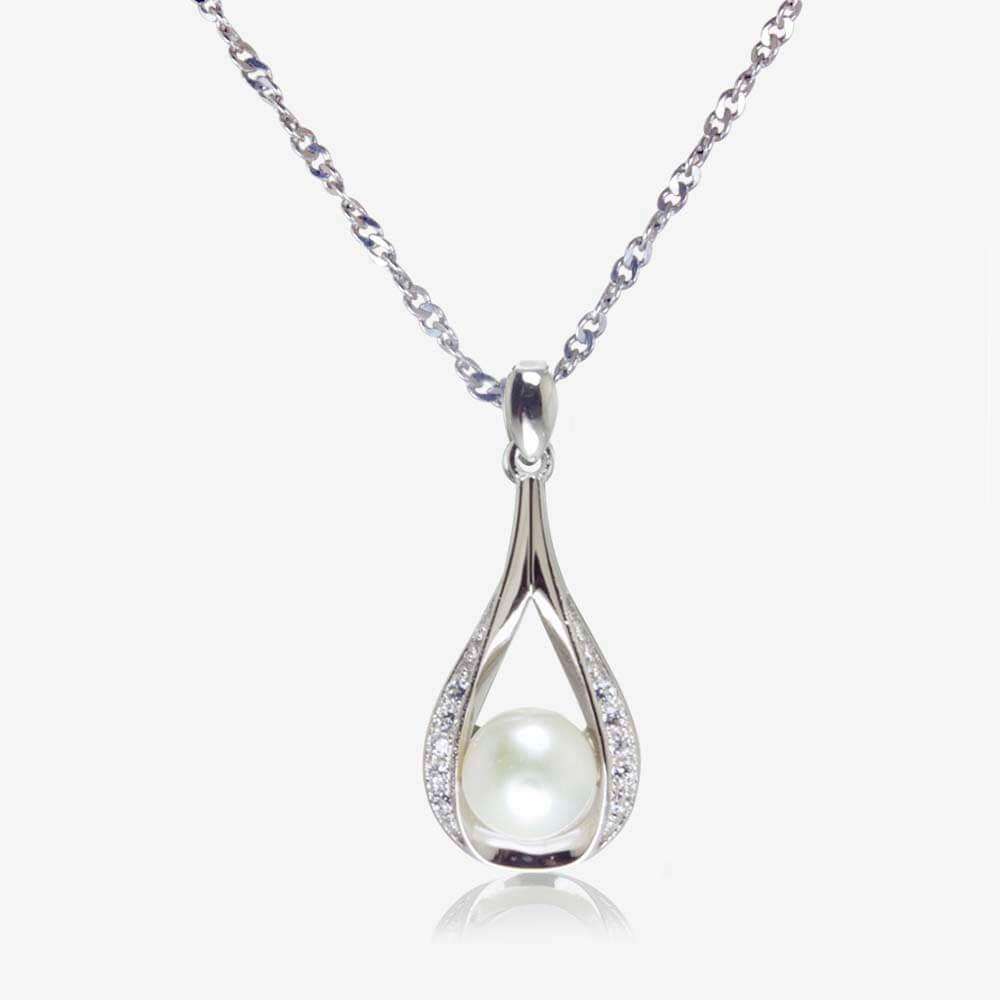 The suzette sterling silver cultured freshwater pearl necklace aloadofball Gallery