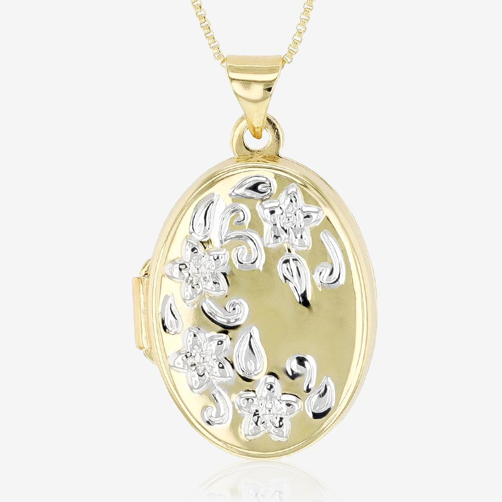 Sterling Silver Two Colour Locket Necklace