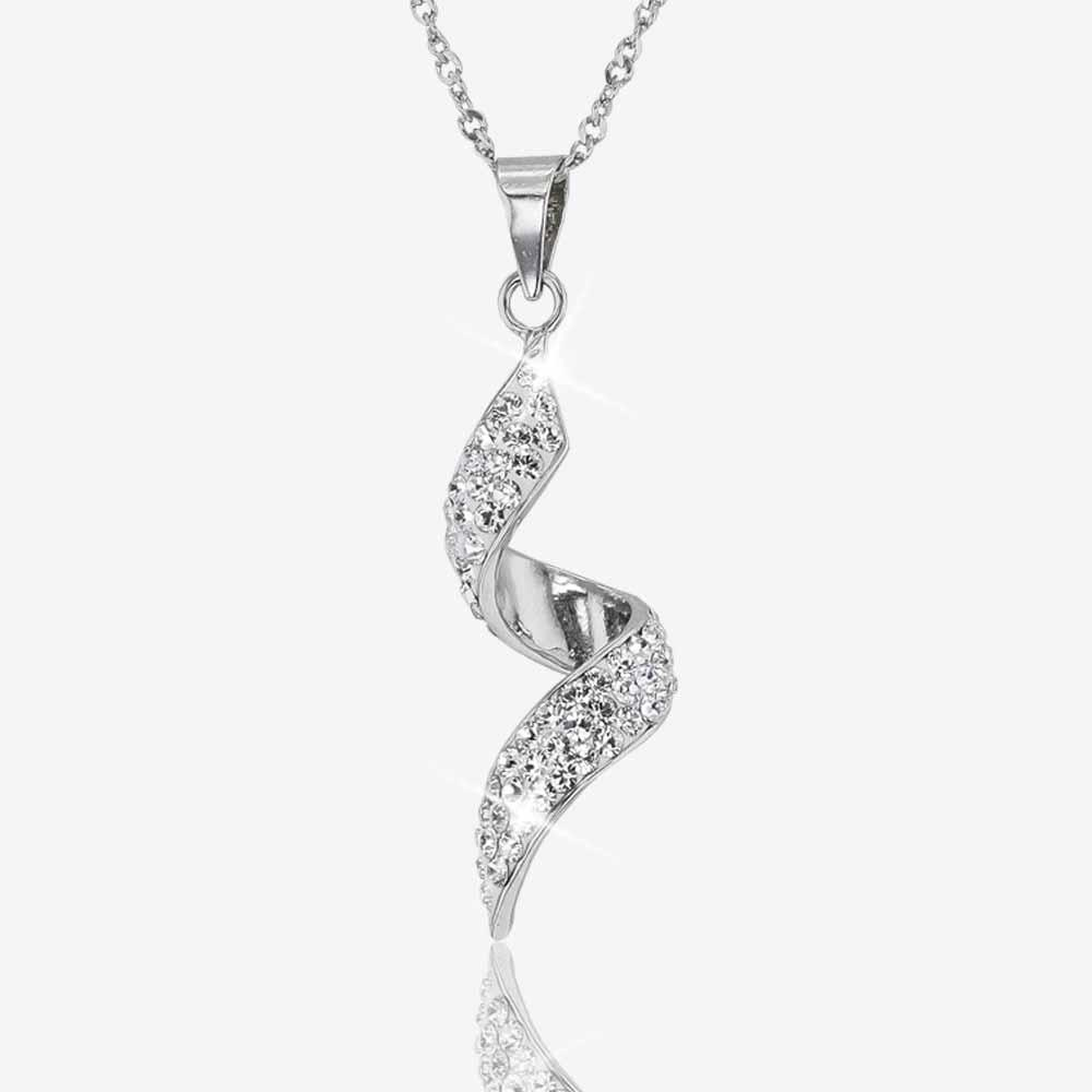 Sterling Silver Twist Collection Made With Swarovski® Crystals