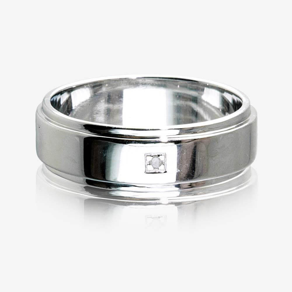 finished cracks s features solid ring jewellery men satin black silver with in chunky mens product