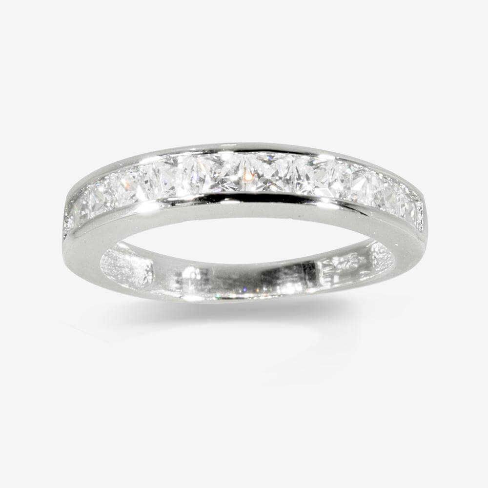 Sterling Silver Daphne DiamonFlashsupR Sup Cubic Zirconia Eternity Ring