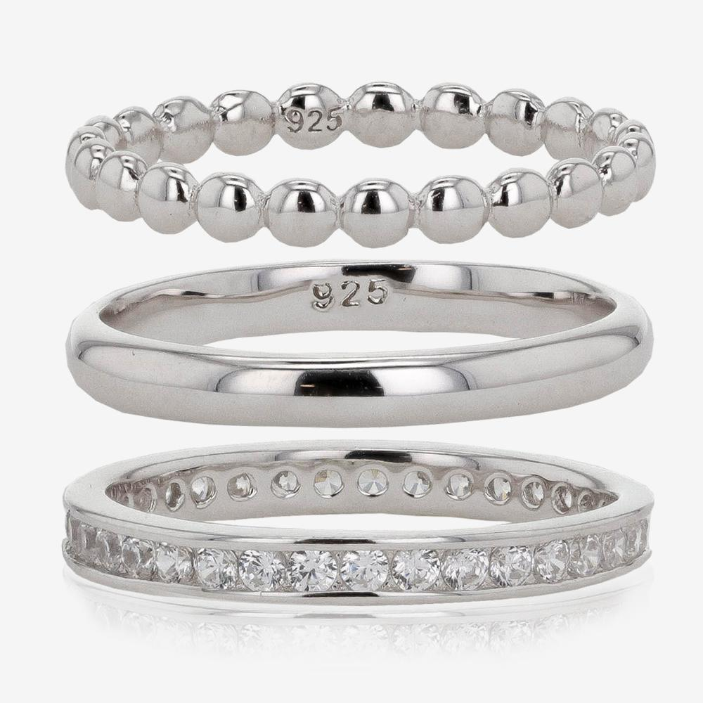 Silver Set of 3 Stacking Rings