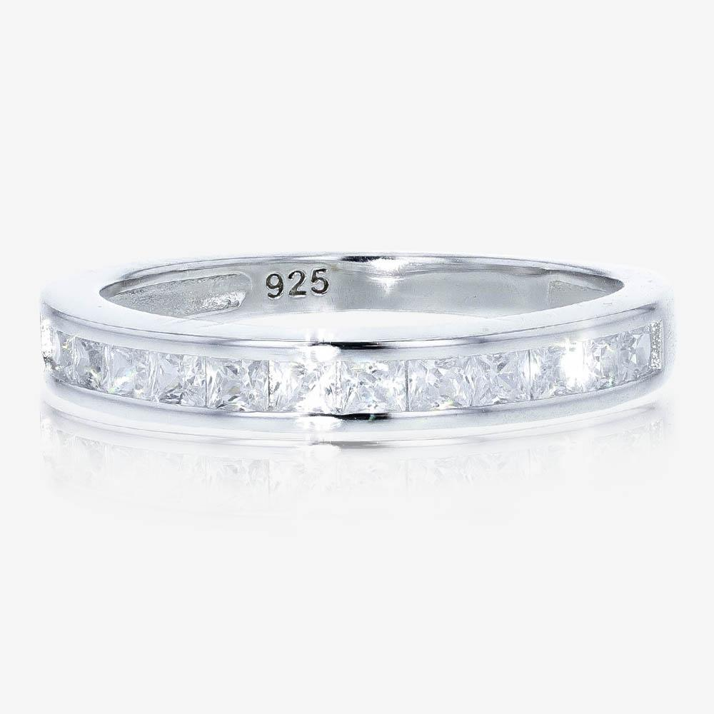 Sterling Silver DiamonFlash<sup>®</sup> Eternity Ring