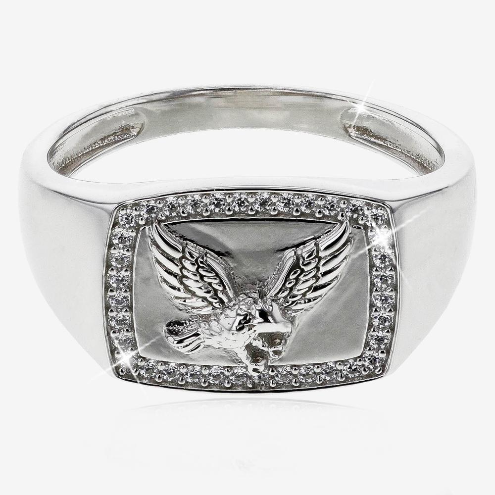 Silver Men's Eagle Ring