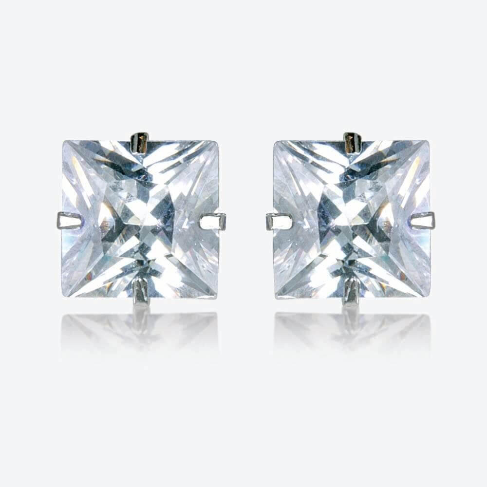 Como 9ct White Gold DiamonFlash<sup>&reg;</sup> Cubic Zirconia Stud Earrings