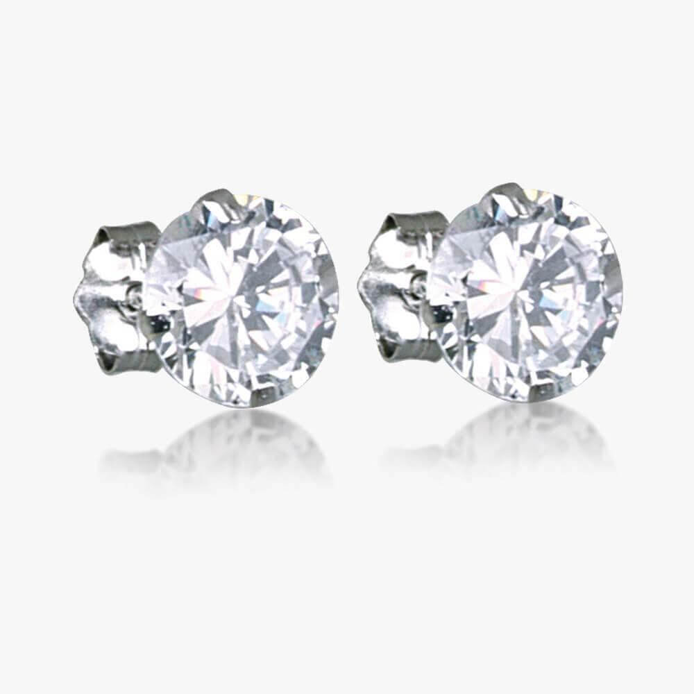 cubic earrings jewellery stud azendi zirconia pearl