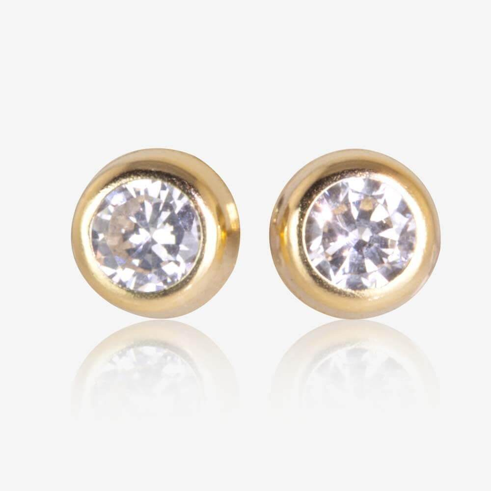 9ct Gold DiamonFlash<sup>®</sup> Cubic Zirconia 5mm Earrings