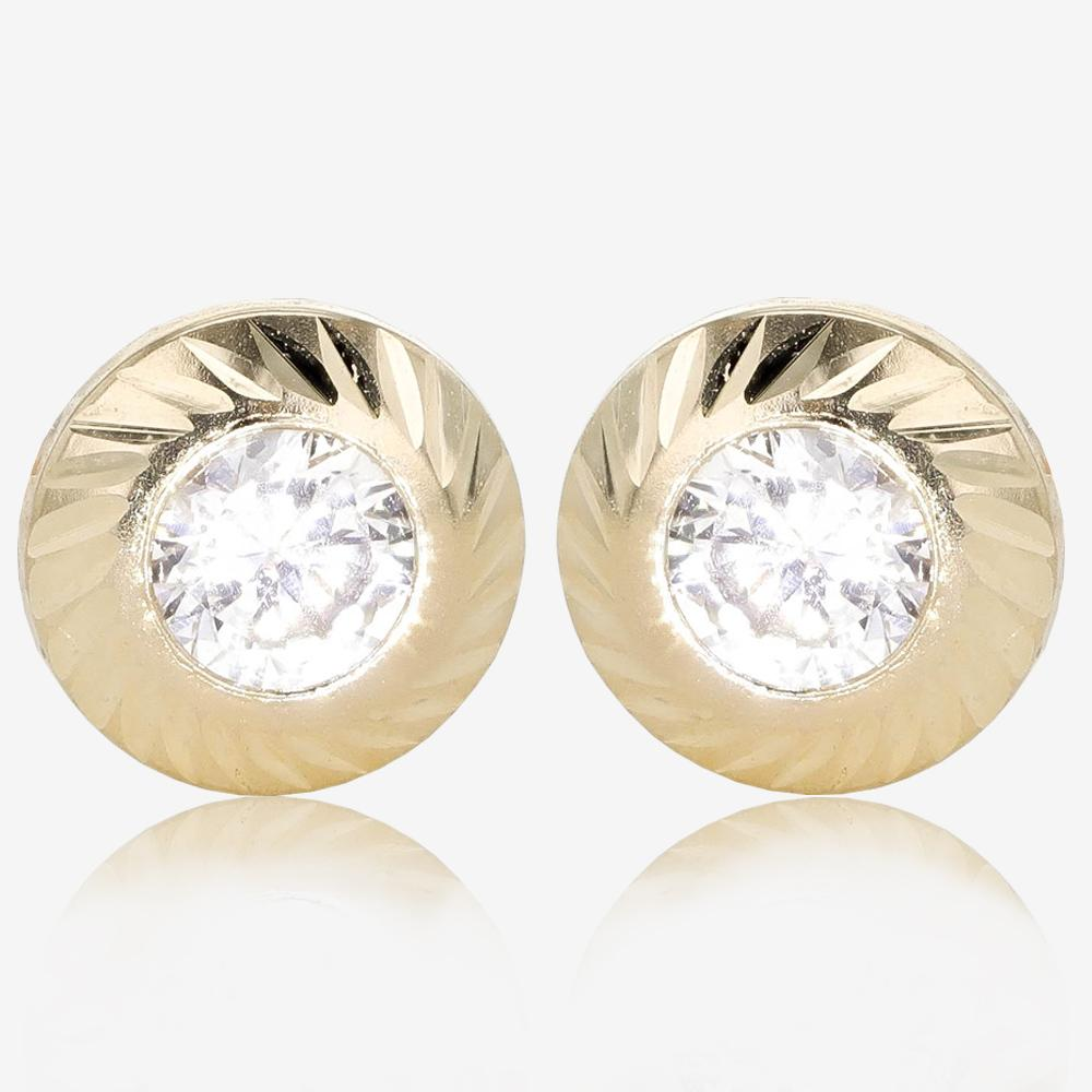 9ct Gold DiamonFlash<sup>®</sup> Cubic Zirconia Earrings