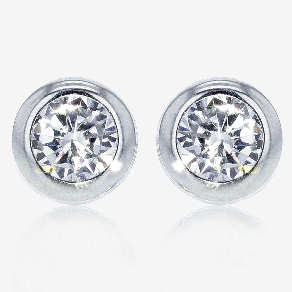 9ct White Gold DiamonFlash<sup>&reg;</sup> Cubic Zirconia Earrings