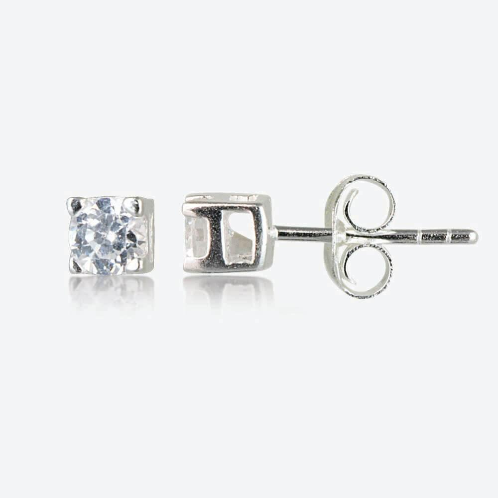 Karina Sterling Silver DiamonFlash<sup>&reg;</sup> Cubic Zirconia Stud Earrings