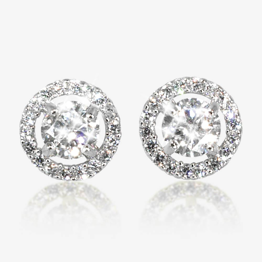 a54b21a0b The Amelia Sterling Silver DiamonFlash<sup>®</sup> Cubic Zirconia Stud