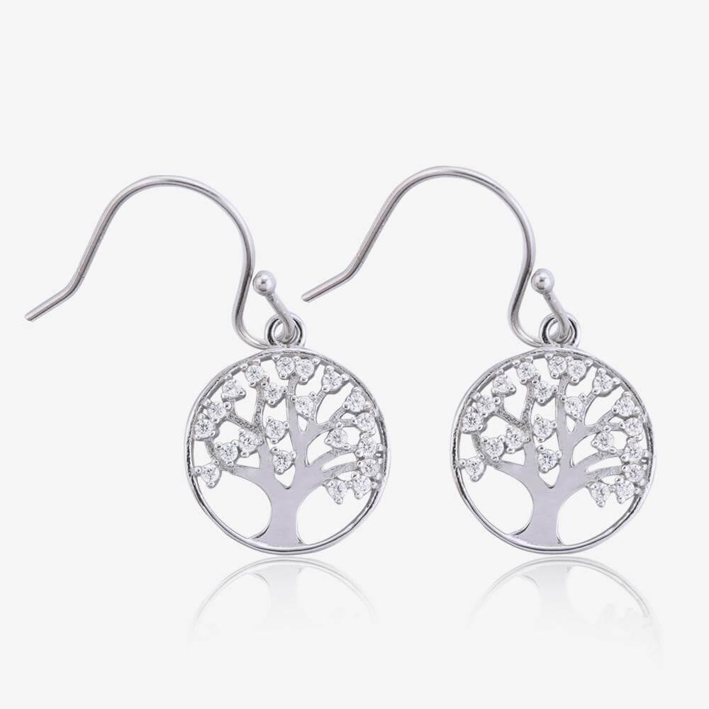 Treescape Dangle Earrings  Sterling Silver Earrings  Sterling Silver  Village Silversmith