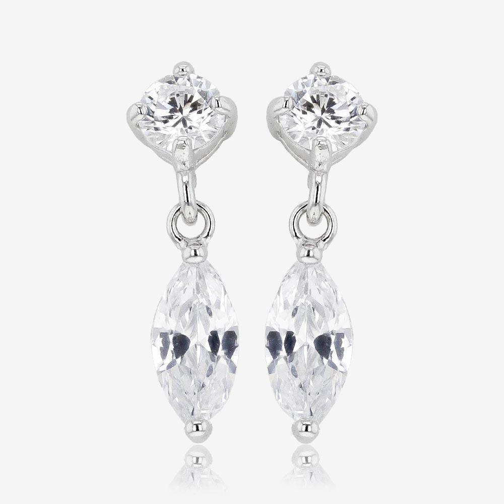 Sterling Silver Marquise Earrings