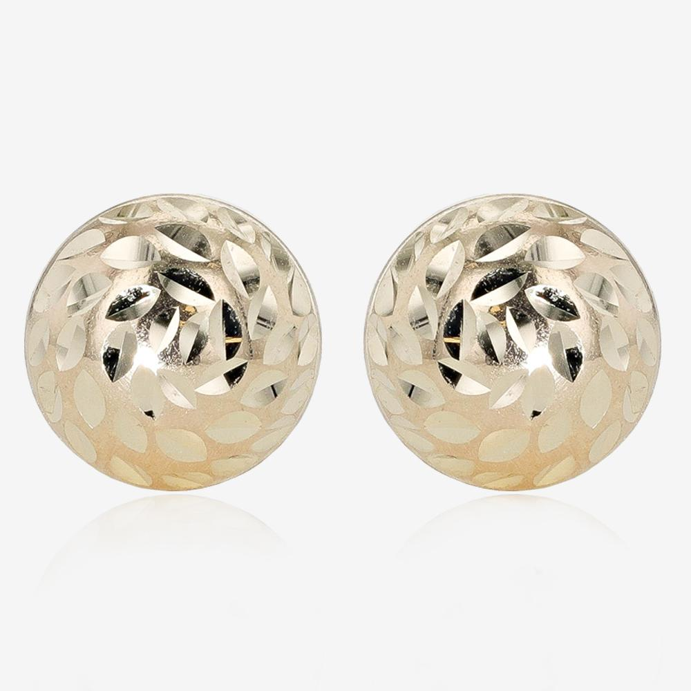 9ct Gold Diamond Cut Studs