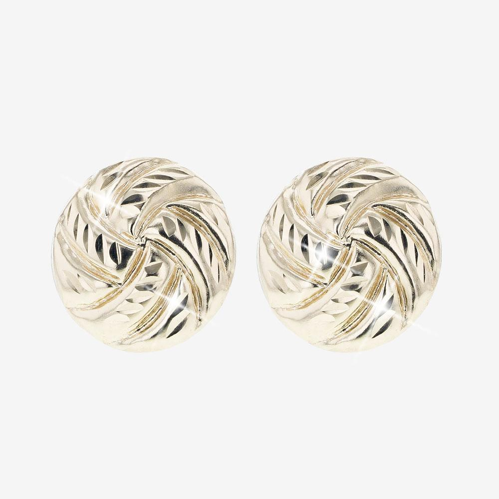 9ct Gold Sparkle Design Stud Earrings