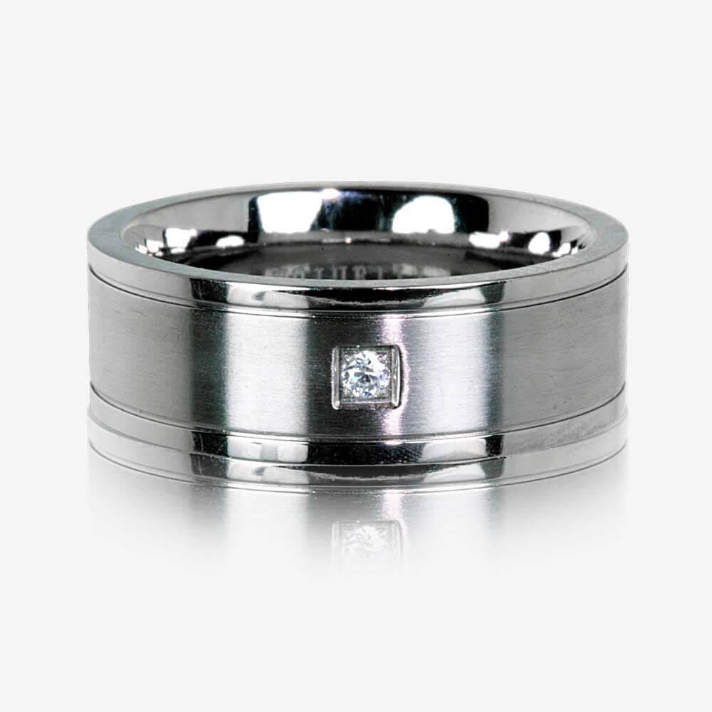 Men S Titanium Band Ring