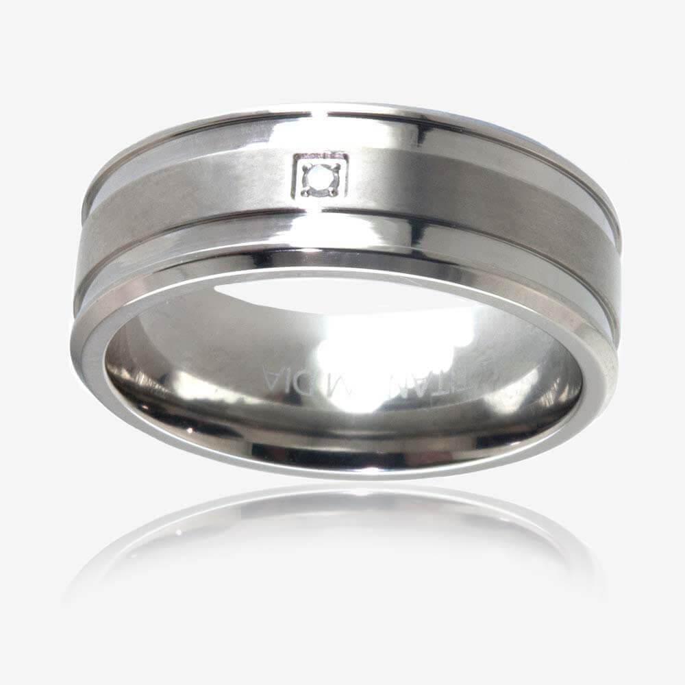 s titanium band ring
