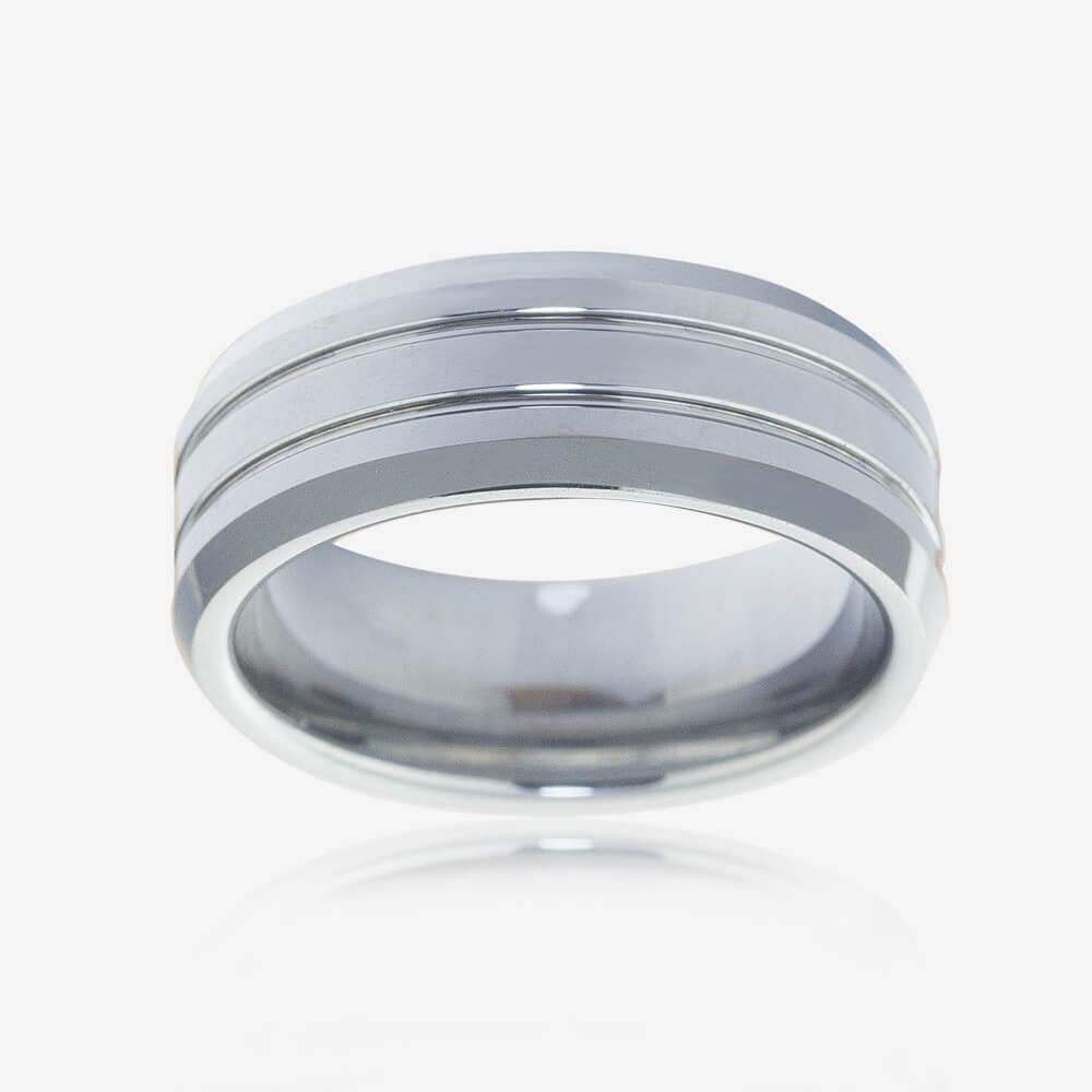 Warren James Mens Wedding Rings: Men's Heavyweight Tungsten Band Ring