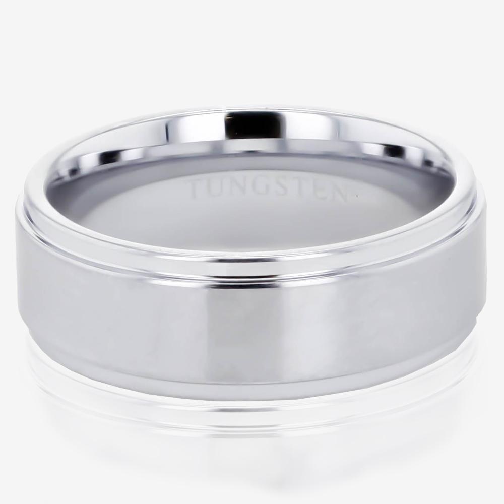 Menu0027s Heavyweight Tungsten Band Ring