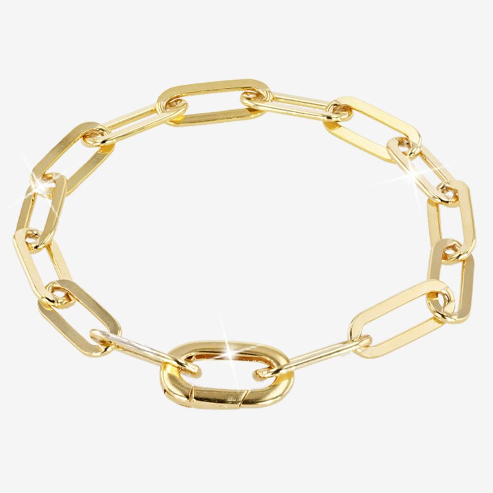 18ct Gold Vermeil on Silver Capture Link Bracelet