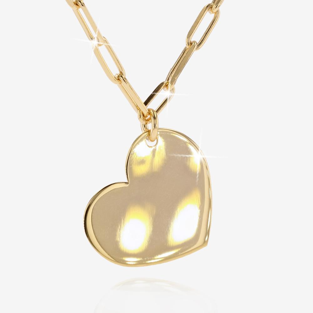 18ct Gold Vermeil on Silver Heart Necklace